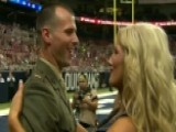 Rams Cheerleader Surprised By Marine Husband