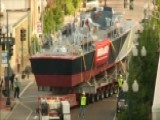 Restored PT Boat Travels Through Streets Of New Orleans