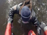 Rescuers Rush To Save Fisherman Stuck In Frozen Lake