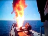 Russian Warships Fire Cruise Missiles At ISIS Targets