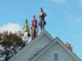 Roofers In Maine Stop Work To Respect National Anthem, Flag