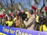 Rally Held Outside White House In Support Of Iran Protests