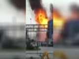 Raw Video: Flash Fire At Industrial Plant In Texas