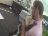 Raw Video: Man With Monkey Arrested For Auto Theft