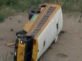 Raw Video: Crash Leaves Colorado School Bus On Its Side
