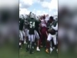Raw Video: Brawl Breaks Out During Jets, Redskins Practice