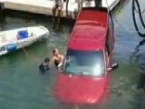 Rescuers Save Mother, Son From Sinking Pickup Truck