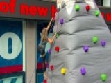 Rock Climbing Comes To The Fox News Plaza