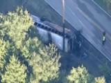 Raw Video: Texas Authorities Respond To School Bus Accident