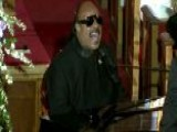 Stevie Wonder Performs At Whitney Houston's Funeral