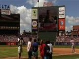 Soldier Surprises Family At Baseball Game