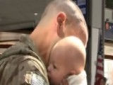 Soldier Meets Baby Daughter For First Time