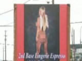 Sign For Local Coffee Shop Features Nearly Nude Woman