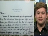 Student Auctioning Handwritten Letter From Obama