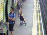 Subway Scare: Baby In Stroller Rolls Onto Tracks