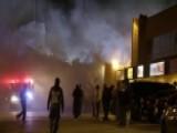 Shots Fired As Buildings Burn In Ferguson, Missouri