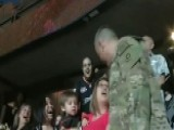 Sergeant Surprises His Wife On Big Board At Hockey Game