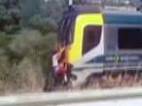Shocking 'train Surfing' Stunt Caught On Camera