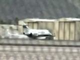 Scary Landing: Private Jet Forced To Land On Its Belly