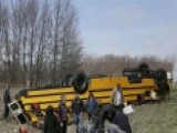 School Basketball Team Survives When Bus Overturns In Crash