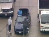 Suspects In Car Chase Greet Witnesses Before Arrest