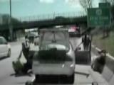 Suspect Fleeing Traffic Stop Knocks Deputies Into Traffic
