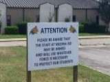 School District Posts Warnings Teachers May Be Armed