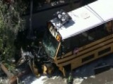 Several Students Hospitalized After School Bus Crash