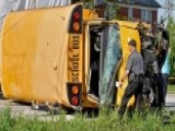 Students, Driver Hospitalized After Packed School Bus Flips