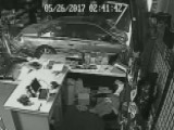 Smash And Grab Thieves Crash Vehicles Into Gun Stores