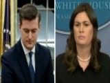 Sarah Sanders Reads Statement From Robert Porter