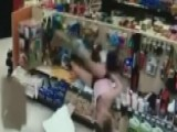 Suspect Falls Through Store Ceiling Trying To Escape Police