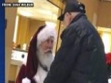 Santa Gets Down On Knee To Thank Veteran For His Service