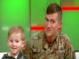 Santa Claus Grants 6-year-old Boy's Christmas Wish As Army Dad Surprises His Son At School Assembly