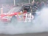 Tony Stewart Burns Rubber On Las Vegas Strip