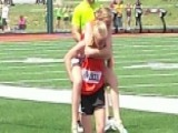 Twin Carries Her Sister Over The Finish Line