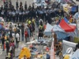 Tensions Mount As Police Clear Out Hong Kong Protest Camps