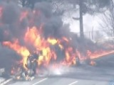 Tanker Truck Explodes In Flames