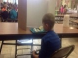 Tardy 1st Grader Forced To Sit Behind Divider At Lunchtime