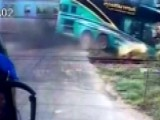 Train Smashes Into Tour Bus In Deadly Crash Caught On Tape