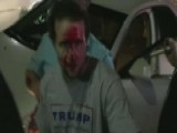 Trump Supporter's Face Bloodied As Protest Turns Chaotic