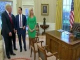 Trump Gives 'Fox & Friends' A Tour Of The Oval Office