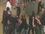 Trump Supporters And Anti-Trump Protesters Clash At Rally
