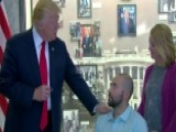 Trump Visits Walter Reed Hospital To Award Purple Heart