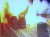 Truck Carrying Flammable Paint Explodes In Massive Fireball