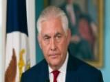 Tillerson, Trump Slam 'rift' Report As Fake News