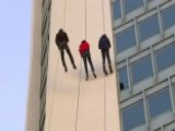 Todd Piro Takes The Plunge At Stamford's Annual Santa Rappel