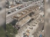 Time-lapse Footage Of Construction Of FIU Pedestrian Bridge