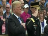 Trump Marks Memorial Day With Service At Arlington Cemetery