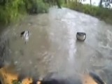Texas Bus Attempts To Drive Through Floodwaters